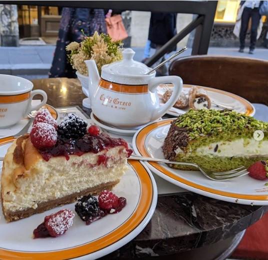 glyka kai kafes sto antico caffe greco