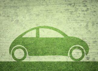 πράσινο σκίτσο με αμάξι