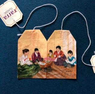 ζωγραφισμένο σακουλάκι από τσάι