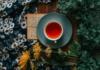 φλιτζάνι με τσάι και λουλούδια