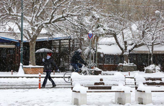 Χιόνια κα στην Αττική