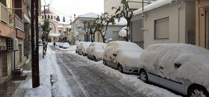 Χιόνι στο Βόλο
