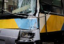 Ζημιά σε λεωφορείο λόγω τροχαίου